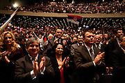 A standing ovation for Tomislav Nikolic at the Serbian Progressive Party (SNS) congress at Sava Center in Belgrade, Serbia. May 15, 2012...Matt Lutton for The Wall Street Journal.BELGRADE