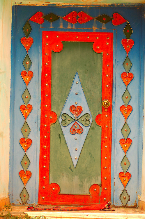 Metal Door, Town near Tafraoute, Morocco
