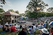 University and community members gathered in Scripps Ampitheater on Wednesday, June 10, 2015 for a space themed Concert Under the Elms.  Photo by Ohio University  /  Rob Hardin