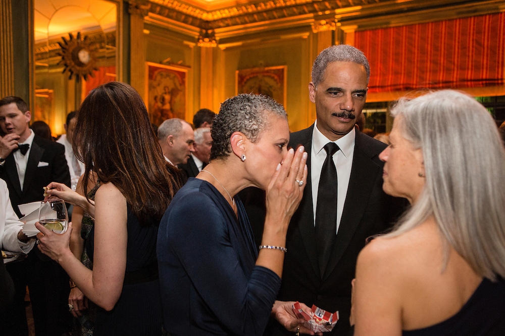 Attorney General Eric Holder attends the Bloomberg Vanity Fair White House Correspondents' Association dinner afterparty at the residence of the French Ambassador on Saturday, April 28, 2012 in Washington, DC. Brendan Hoffman for the New York Times