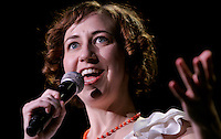(041709  Boston, MA) Actress and comedian Kristen Schaal performs while opening for the Flight of the Conchords at Agganis Arena at Boston University.  Photo by Matthew Healey