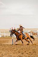 Rocky Boy Rodeo-kids-Indians-teenagers-Pole Bending-Rocky Boy Reservation-Montana