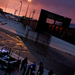 Mexican Federal Police and U.S. Border Patrol at the scene of the murder of a 14 year-old boy, who was killed by a U.S. Border Patrol agent in Ciudad Juarez, Chihuahua on June 7, 2010 after he had tried to cross. According to witnesses he was shot in the head by the officer after some of the boys in his group threw a rock at the officer. The boys had already crossed back into Mexico.
