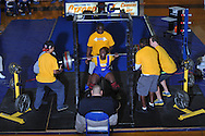 Kevin Whitney squats 525 pounds during Class 5A Region weightlifting competition at Oxford High School in Oxford, Miss. on Saturday, February 9, 2013.