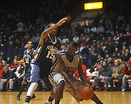 "Ole Miss forward Terrance Henry (1) makes a move against Penn State forward David Jackson (15) at the C.M. ""Tad"" Smith Coliseum on Friday, November 26, 2010. Ole Miss won 84-71."