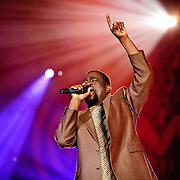 """Hopeton Lewis, one of the originators of reggae, performing at the Montreal Jazz Festival in Montreal, Canada on 7 July 2009 as part of a special event in support of the movie """"Rocksteady: The Roots of Reggae""""."""