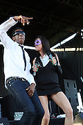 l to r: Amanda Blank and Spank Rock at The Rock the Bells International Festival Series powered by SandDisk held at Jones Beach on August 3, 2008..Few events can claim to both capture and define a movement, yet this is precisely what Rock The Bells has done since its inception in 2003. Rock The Bells is more than a music festival. It has become a genuine rite of passage for thousands of core, social, conscious, and independent Hip Hop enthusiasts, backpackers, and heads. Following in the colorful tradition and history of past Hip Hop music festivals such as Smoking Grooves and Cypress Hill?s Smoke Out, Rock The Bells is the ultimate Hip Hop platform and premiere music experience in America. Rock The Bells has established a forum of unparalleled diversity and excellence by uniting the biggest names involved with urban culture.