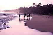 SRI LANKA, SEA COASTS fishermen on shore at a village near Galle on the island's southern coast