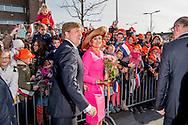 21-2-2017 - Krimpen aan den IJssel  , Aankomst van Koning Willem-Alexander en Koningin Maxima  bij het gemeentehuis   van Krimpen aan de IJssel , tijdens het Streekbezoek van Koning Willem-Alexander en Koningin Maxima aan de Krimpenerwaard,<br /> dinsdag 21 februari 2017 COPYRIGHT ROBIN UTRECHT<br /> <br /> 21-2-2017 - Krimpen aan den IJssel, Arrival of King Willem-Alexander and Queen Maxima at the town of Krimpen aan de IJssel, during the Regional Visit streekbezoek by King Willem-Alexander and Queen Maxima of the Krimpenerwaard<br /> Tuesday, February 21, 2017 COPYRIGHT ROBIN UTRECHT