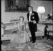 Royal Visit to Ireland by Princess Grace and Prince Rainier of Monaco. The royal couple at Áras an Uachtarain..10.06.1961