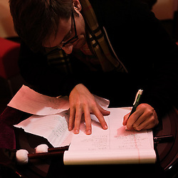 Soiree de poche #12 avec Vampire Weekend organisee par la Blogotheque dans un appartement du 11eme arrondissement. Paris, France.  23 Octobre 2009. Photo: Antoine Doyen