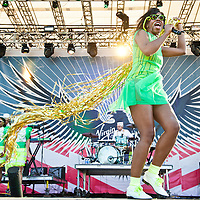 COLUMBIA, MD - October 6th, 2012 - Santigold performs at the 2012 Virgin Mobile FreeFest in Columbia, MD. She released her sophomore album, Master of My Make-Believe, in April. (Photo by Kyle Gustafson / For The Washington Post)