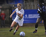 Ole Miss' Addie Forbus (25) vs. Jackson State's Rayana Speight (7) in NCAA Soccer Tournament in Oxford, Miss. on Friday, November 15, 2013. Ole Miss won 9-0.