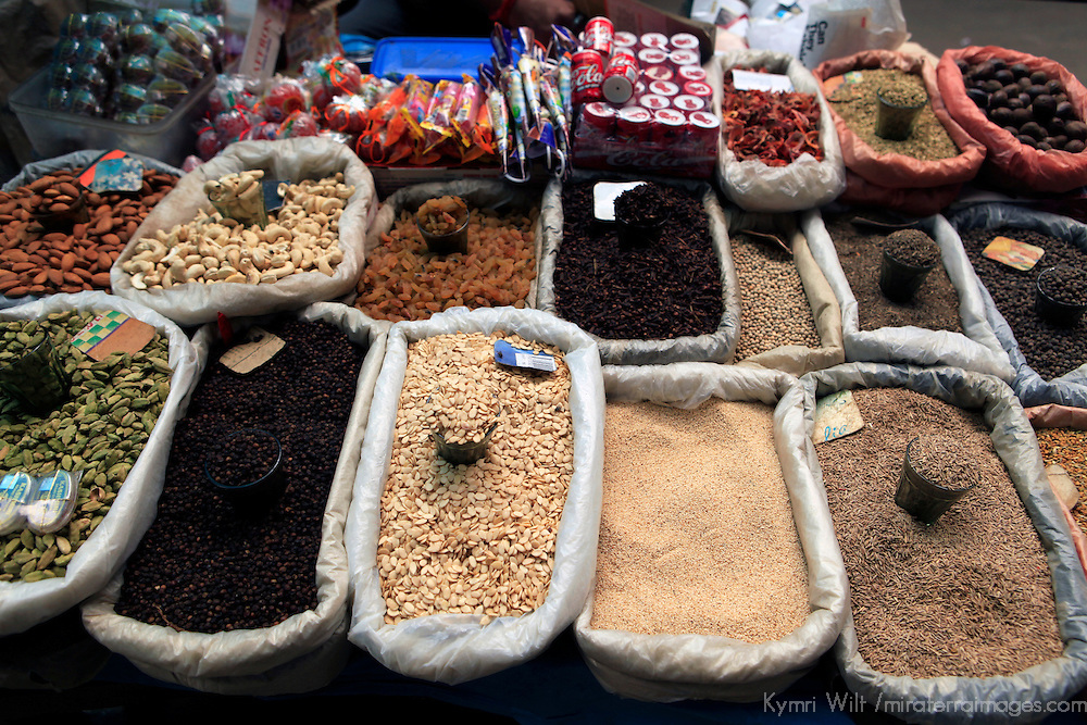 Asia, India, Darjeeling. Spices and snacks of the Himalayan region of Darjeeling.