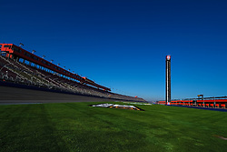 FONTANA, CA - MAR 20 Panoramic view of Auto Club Speedway before the NASCAR Auto Club 400 in Fontana, California USA. 2015 March 20. Byline, credit, TV usage, web usage or linkback must read SILVEXPHOTO.COM. Failure to byline correctly will incur double the agreed fee. Tel: +1 714 504 6870.