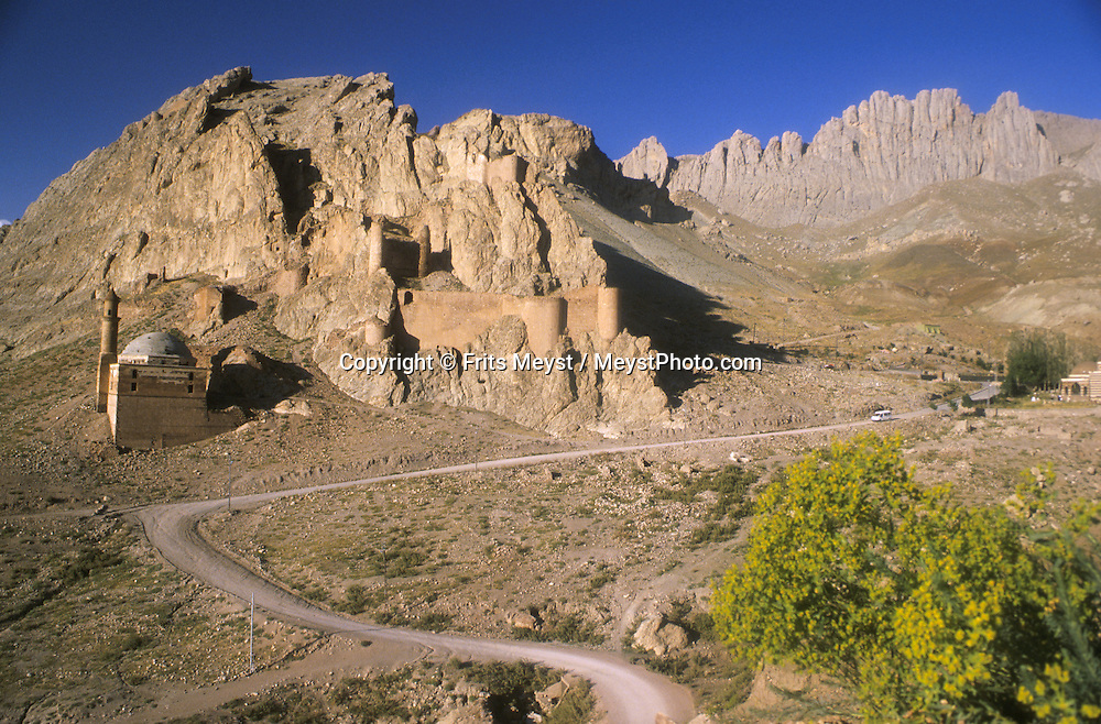 MOUNT ARARAT, TURKEY, AUGUST 2002. The mountains behind the Palace of Ishak Pasha in Dogubayazit.  Mount Ararat is with its 5137 meters the highest mountain in Turkey. It has been closed to foreigners until 2001, due to guerilla activity on the mountain. Photo by Frits Meyst/Adventure4ever.com