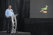 STELLENBOSCH, SOUTH AFRICA - Wednesday 20 January 2016, Mr Oregan Hoskins, President of SARU, during the launch of Springbok 7's new jersey with Steinhoff International as sponsor at the Markotter Indoor facility in Stellenbosch.<br /> Photo by Roger Sedres/ImageSA