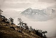 Winter storm, Absaroka Mountains, south of Livingston, Montana