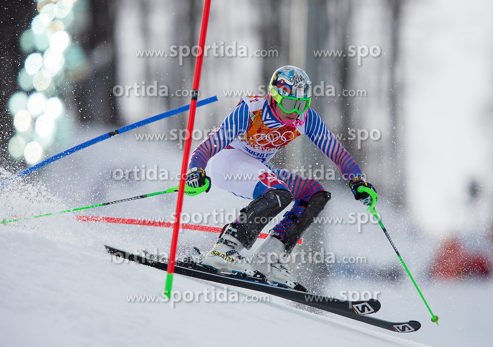 14.02.2014, Rosa Khutor Alpine Center, Krasnaya Polyana, RUS, Sochi 2014, Super- Kombination, Herren, Slalom, im Bild Adam Zampa (SVK) // Adam Zampa of Slovakia in action during the Slalom of the mens Super Combined of the Olympic Winter Games 'Sochi 2014' at the Rosa Khutor Alpine Center in Krasnaya Polyana, Russia on 2014/02/14. EXPA Pictures © 2014, PhotoCredit: EXPA/ Johann Groder
