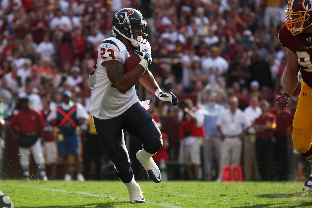 Landover, Md., Sept. 19, 2010 - Washington Redskins vs. Houston Texans -