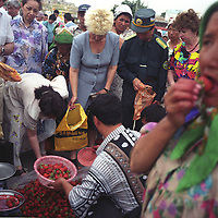 Selling strawberries in the Chorsu bazaar market, in Tashkent, one of the cities on the old Silk Road trading route through Central Asia. Uzbekistan.