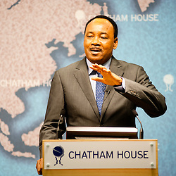 HE Mahamadou Issoufou, President of the Republic of Niger, speaks to the audience during the ?Niger?s Growing Regional and International Importance? conference at Chatham House.