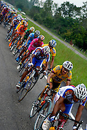 Athletes compete in stage eight of the annual Vuelta al Tachira cycling race in Tachira, Venezuela on Saturday, Jan. 12, 2008. Local and international teams will ride over 1580 kilometers and climb a 1500 meter altitude differential throughout the competition. The grueling, 13-stage race through the Andes mountains is hailed as the premier cycling event in South America.
