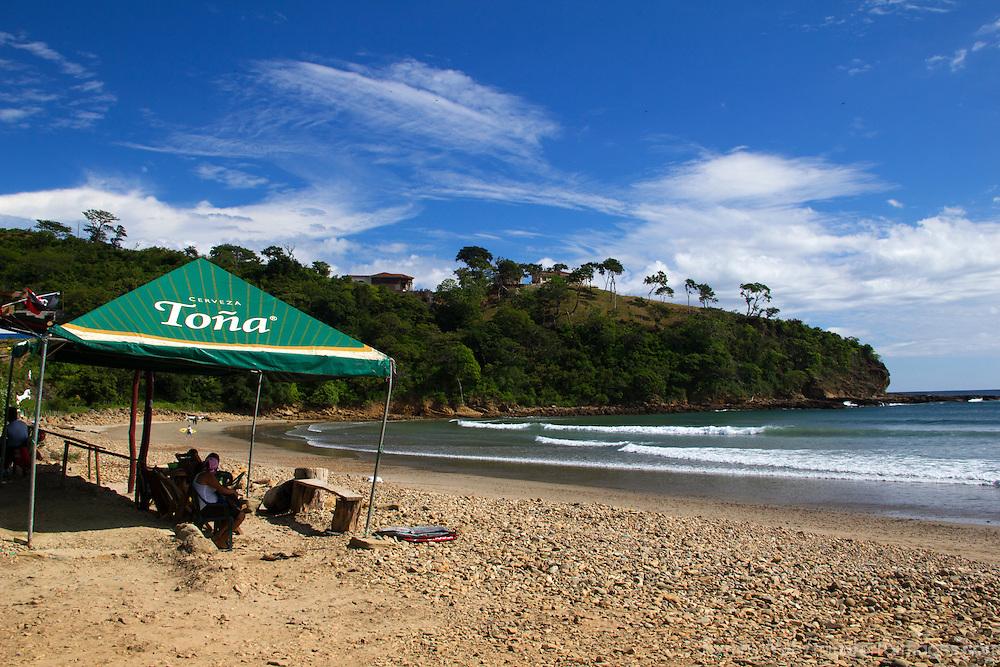 Central America, Nicaragua, Playa Remanso. Playa Remanso beach in Nicaragua, south of San Juan del Sur.