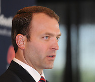 Ross Bjork was announced as the new athletic director at the University of Mississippi during a press conference at Vaught-Hemingway Stadium in Oxford, Miss. on Thursday, March 22, 2012.  (AP Photo/Oxford Eagle, Bruce Newman)