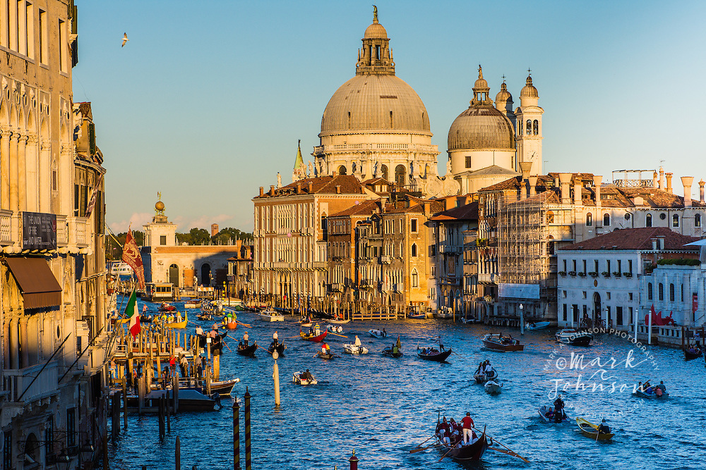 The colorful Regata Storica on the Grand Canal, Venice, Italy, Europe