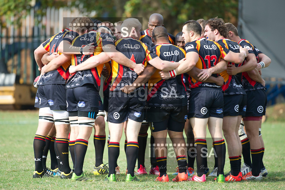 JOHANNESBURG, SOUTH AFRICA - Saturday 14 March 2015,  Wanderers huddle during the fourth round match of the Cell C Community Cup between Vaseline Wanderers and One Logix United Bulk Villagers Worcester at Kent Park, Wanderers Cricket Club, Johannesburg<br /> Photo by Craig Nieuwenhuizen/ ImageSA/SARU