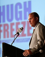 Mississippi coach Hugh Freeze talks with reporters during the SEC football Media Days in Hoover, Ala., Tuesday, July 16, 2013. (AP Photo/Dave Martin)