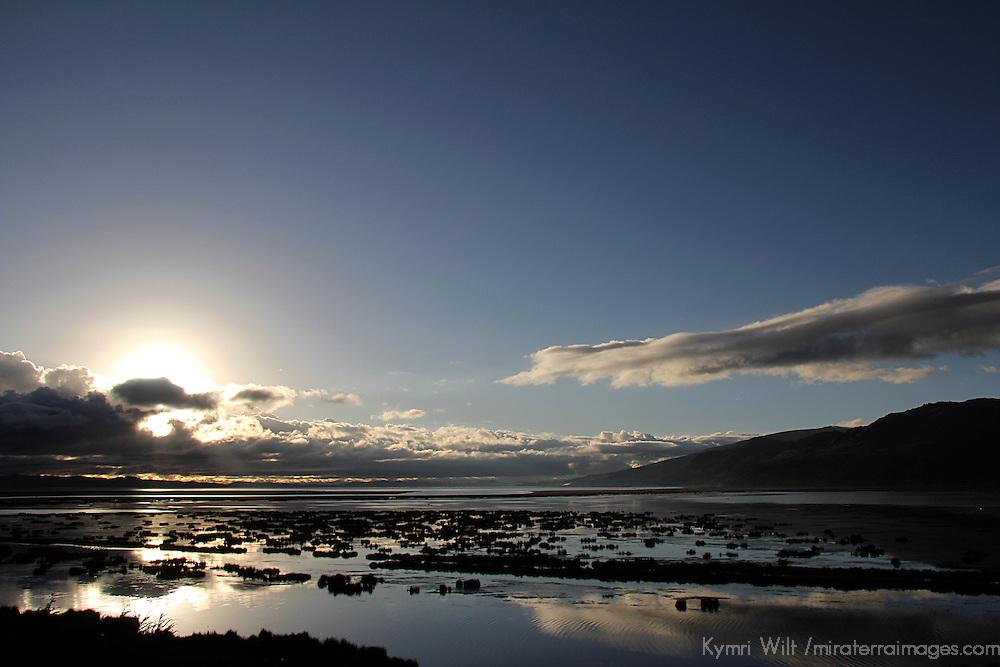 South America, Peru, Lake Titicaca. Sunrise over Lake Titicaca.