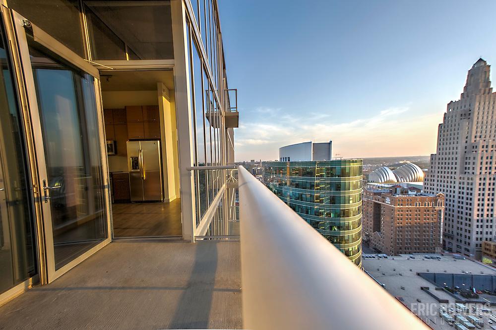 high rise balcony views kc