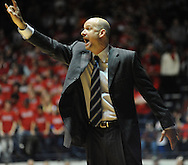 "Mississippi head basketball coach Andy Kennedy yells instructions vs. Mississippi State at the C.M. ""Tad"" Smith Coliseum in Oxford, Miss. on Wednesday, January 18, 2012. Mississippi won 75-68. (AP Photo/Oxford Eagle, Bruce Newman)."
