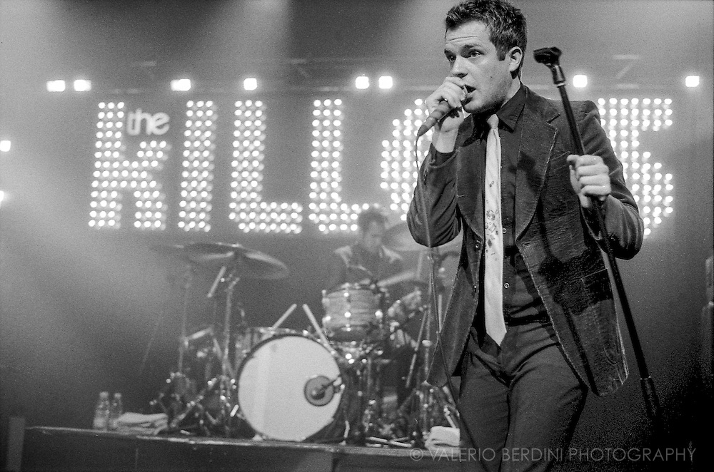 Brandon Flowers of the Killers live at the NME Tour 2005<br /> Cambridge Corn Exchange 4 February 2005