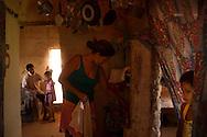 Junco do Maranhao, Brazil, June 26 of 2013:   Bolsa Familia em Junco do Maranhao. A familia Ana Maria Amorim Conceição, 34, Daniel Amorim Conceição, 44, Danila, 8 anos (veste amarelo), Camila, 6 anos (veste vestido listado). (photo: Caio Guatelli)