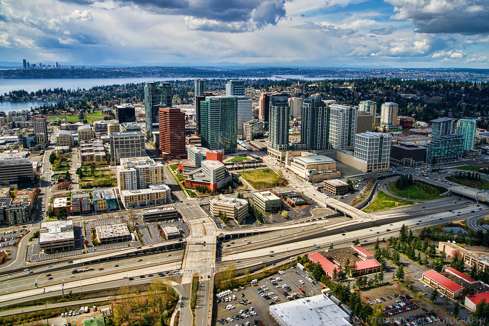 Downtown Bellevue & Downtown Seattle