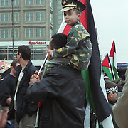 Palestinian protest for the Palestine cause in Berlin, Germany.