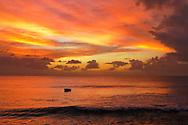 Sunset at Almond Beach Village Hotel,  Heywoods, West Coast, Barbados, Caribbean