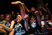 Lucha Libre AAA fans cheer their favorite luchadores in Sacramento, CA March 28, 2009.