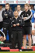 Reading, ENGLAND, Saracens coach, Eddie Jones and staff watch the match, London Irish vs Saracens, Guinness Premiership Rugby, at the, Madejski Stadium, 06.05.2006, © Peter Spurrier/Intersport-images.com,  / Mobile +44 [0] 7973 819 551 / email images@intersport-images.com.