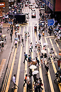Crosswalks Queens Road, Central, Hong Kong.