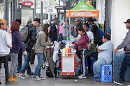 Street vendors in Los Angeles.