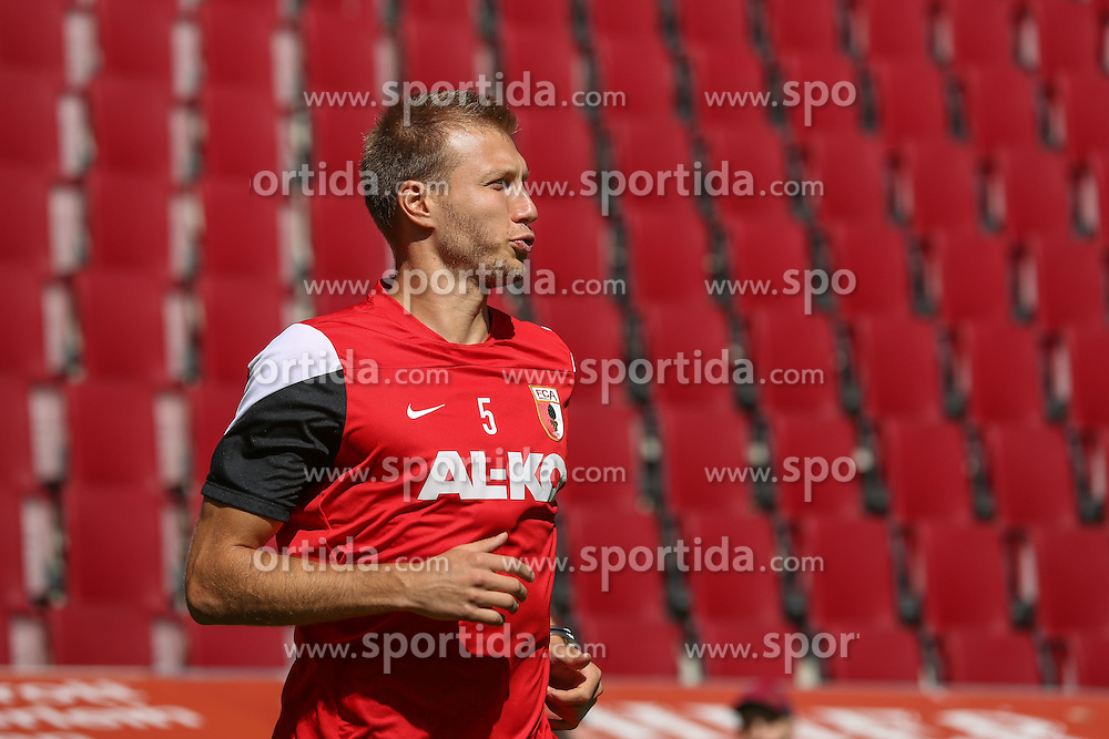 06.07.2014, SGL Arena, Augsburg, GER, 1. FBL, FC Augsburg, Training, im Bild Ragnar Klavan (FC Augsburg #5), // during a Trainingssession of German Bundesliga Club FC Augsburg at the SGL Arena in Augsburg, Germany on 2014/07/06. EXPA Pictures &copy; 2014, PhotoCredit: EXPA/ Eibner-Pressefoto/ Krieger<br /> <br /> *****ATTENTION - OUT of GER*****