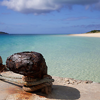 The anchor maybe rusted, but the beach is pristine...great place to make port then!
