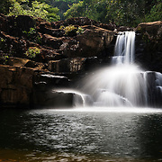 Klong Chao Waterfall on the island of Koh Kood, Trat province, Thailand Asia.
