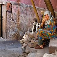 Old Turkish woman in the street of Ankara