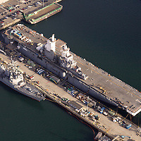 Aerial photograph, Port of San Diego, ship building