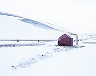 Borehole for geothermal powerstation, Krafla, Iceland